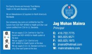 NSF/Gas/Ansi Certified Canada